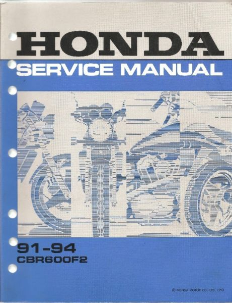 Manual Service Honda CBR 600 F2 -en formato digital para PC