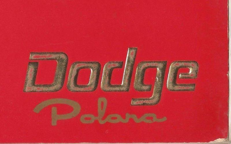Manual cupe DODGE POLARA RT - de usuario en formato digital