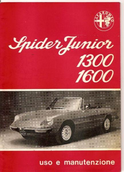 Manual de Alfa Romeo Spider Junior  - en form.