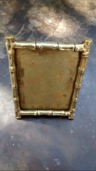 Porta Retrato de Bronce Antiguo