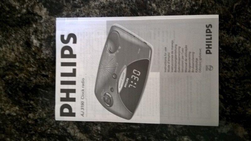 Radio Reloj Despertador Philips Aj - Usado - Funciona