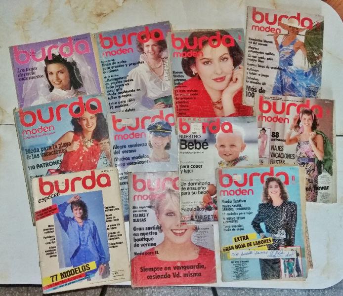 Revistas Burda décadas del  y 90 completas con