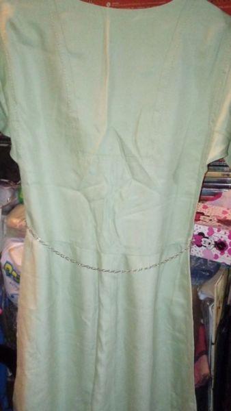 Vestido vintage color verde claro talle  s   m 9e71bdc1b39f