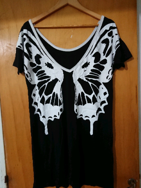 Vestido remeron mariposa nuevo sin uso