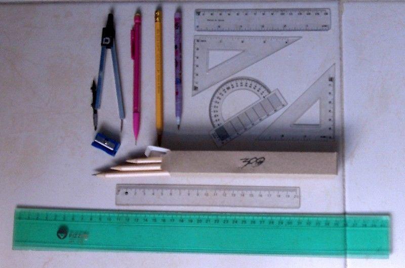 Lote de Articulos Escolares Libreria / Lapices Reglas