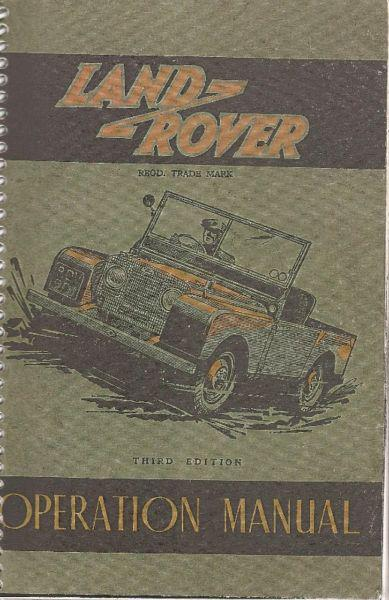 Manual Land Rover 1951 - de usuario en formato digital para