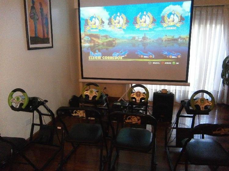 Simuladores de manejo en pantalla gigante Animación eventos