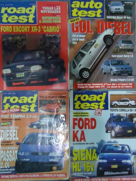 REVISTAS ROAD TEST ARGENTINA 7- 14 A  A  A 30-