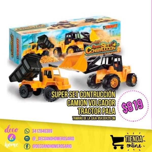 Super set contruccion camion volcador y tractir pala Duravit