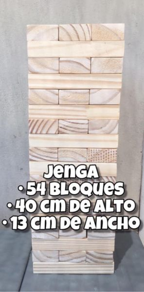JENGA / YENGA - 54 BLOQUES - 40 CM DE ALTO