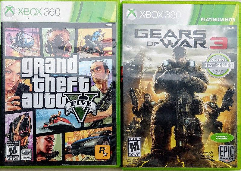 VideoJuegos de Xbox. Gears of War 3 y Grand Theft Auto