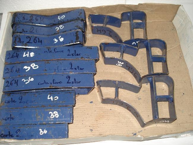 juego completo de sacabocados sandalias