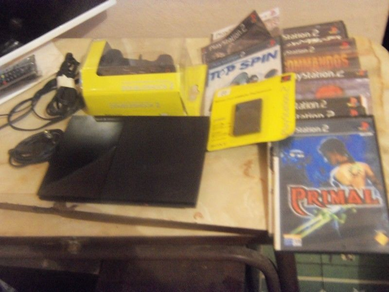 Playstation 2, PS2, slim, lente nuevo, joystick nuevo,