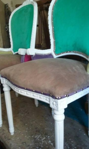 bellos sillones de estilo restaurados