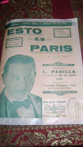 Antiquisima Partitura Piano Esto Es Paris Fox- Trot