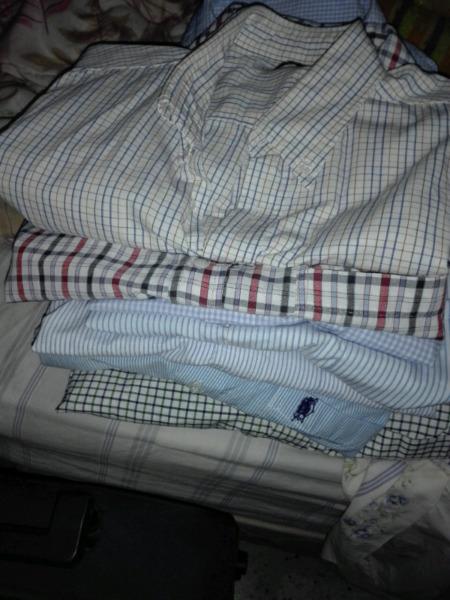 Camisas varias talle  muy poco uso