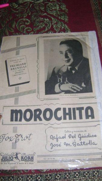 Partitura Piano Morochita Fox Trot Rafael Del Giudice