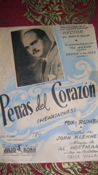 Partitura Piano Penas Del Corazon Fox Rumba Serie 14.3