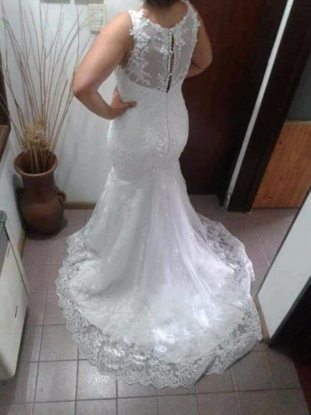 Vestido de novia, nuevo sin uso talle XL...precioso