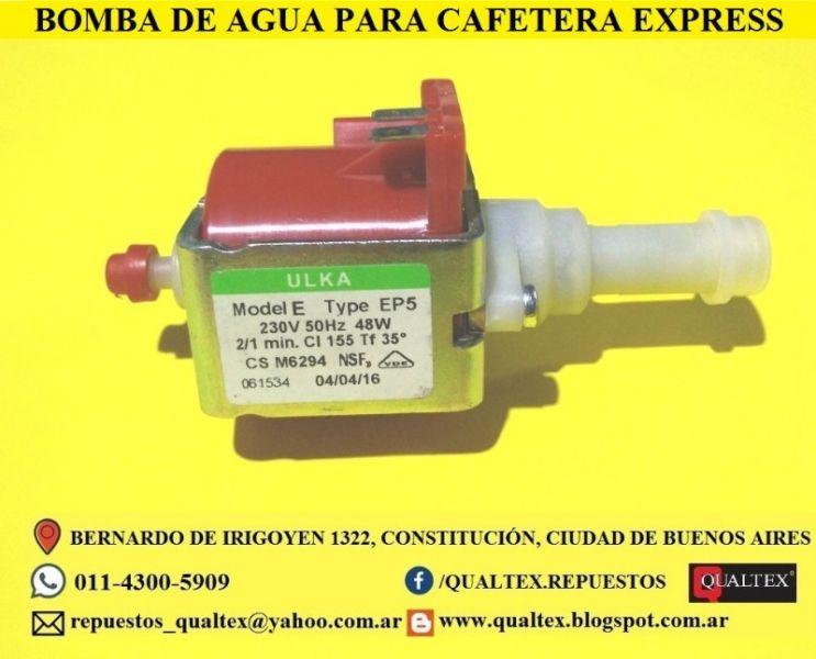 BOMBA DE AGUA ULKA PARA CAFETERA EXPRESS