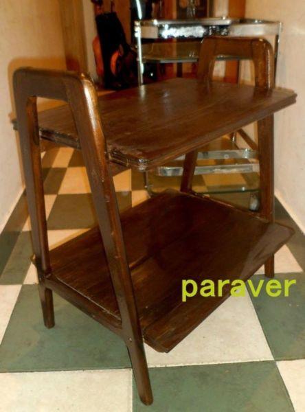 Mesa ratona alta diseño retro vintage guatambu revistero