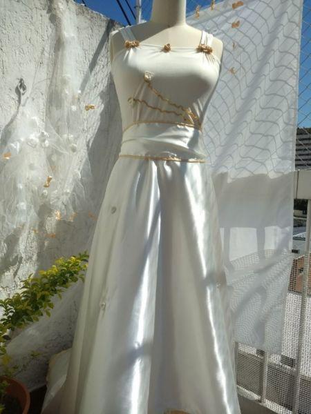 Vestido De Novia Estilo Griego Espalda Descubierta Super