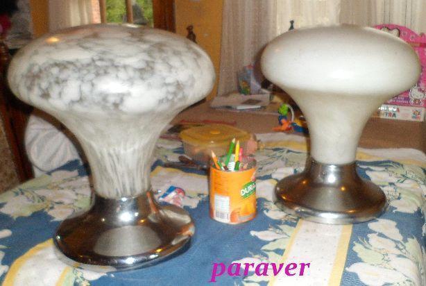 lampara de mesa hongo de varios tamaños diseño retro