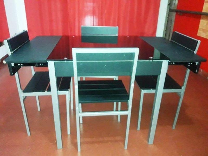 Juego de mesa y sillas para comedor diario   Posot Class