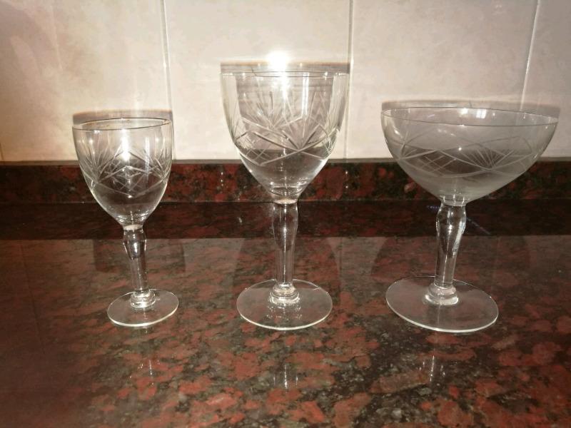 Juegos de copas de cristal diferentes medidas