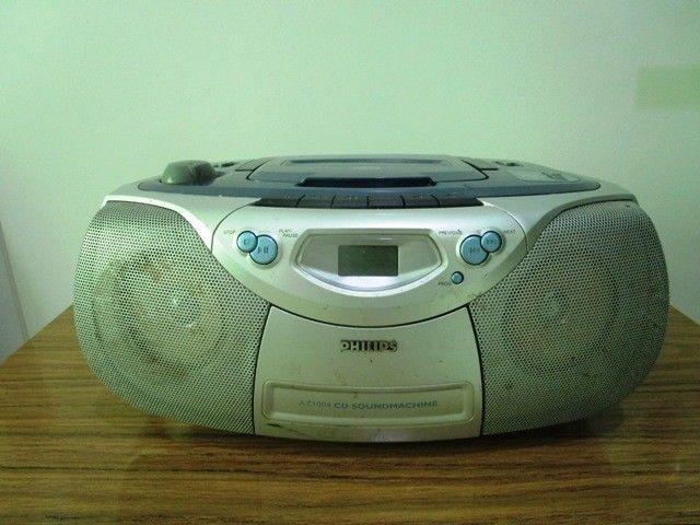 Reproductor De Cd Portable Con Radio Y Casette Philips Nofun