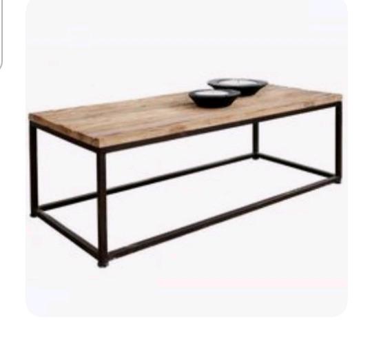 Vendo mesa ratona hierro y madera
