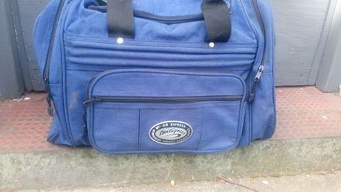 Bolso de viaje de tela reforzada azul