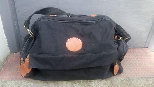 Bolso de viaje de tela reforzda negro