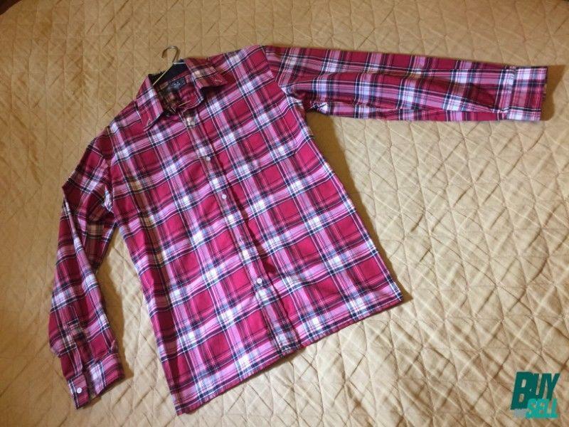 Camisa escocesa manga larga Talle 40 SIN USO