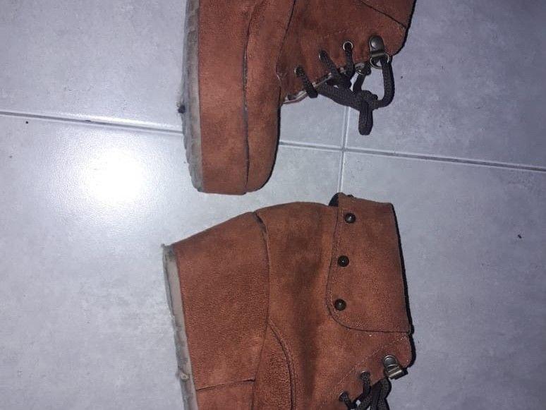 zapatos de gamuza marrones talle 36