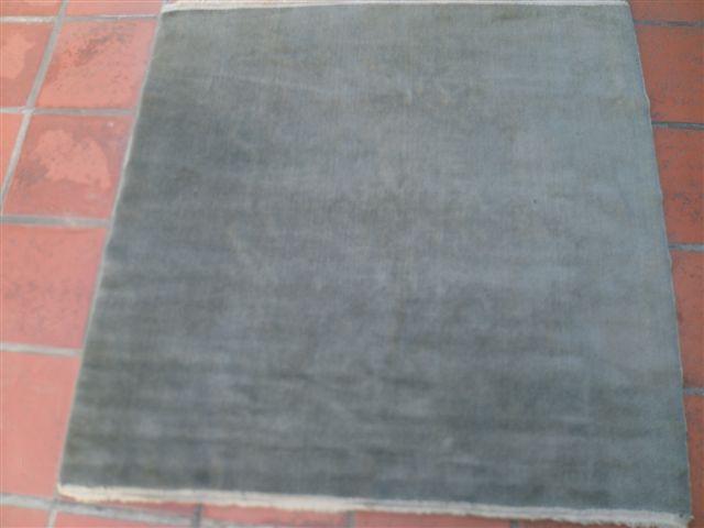 Carpeta Alfombra Lana 140 x 140 cm azul grizáceo con Flecos