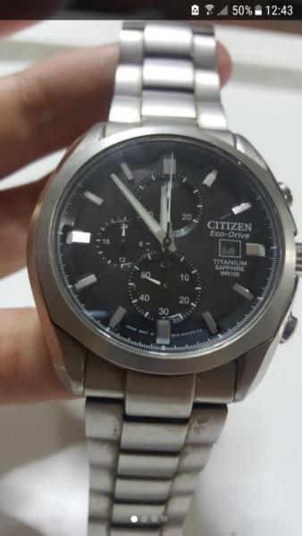 85c64fdb5a76 Reloj citizen eco drive titanium caa cae 100m wr
