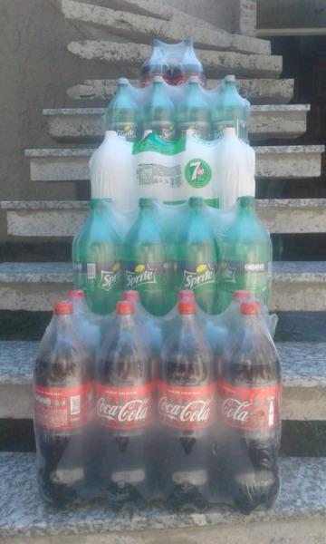 Coca cola y sprite 2.1/4 litros x pack de 8 Unidades a 550$