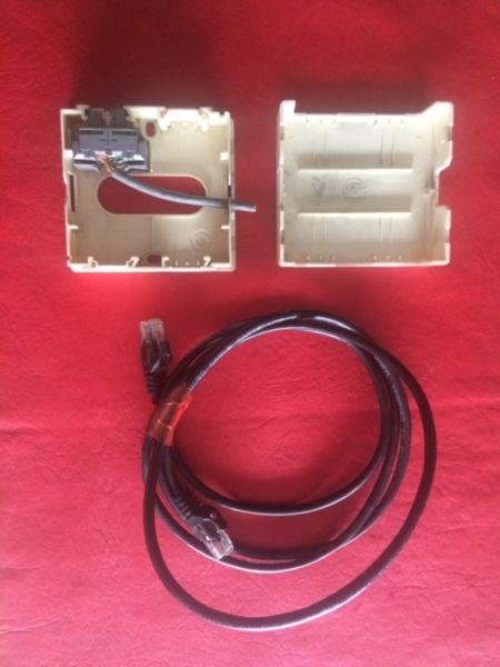 Roseta 4 Bocas Para 4 Jack Rj45 1 Hembra Rj45 1 Cable Rj45