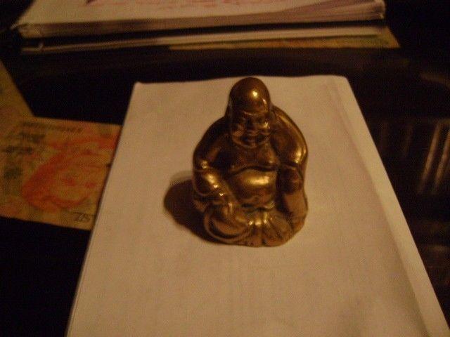 Antigua Figura De Buda En Bronce Macizo Figura Exclusiva