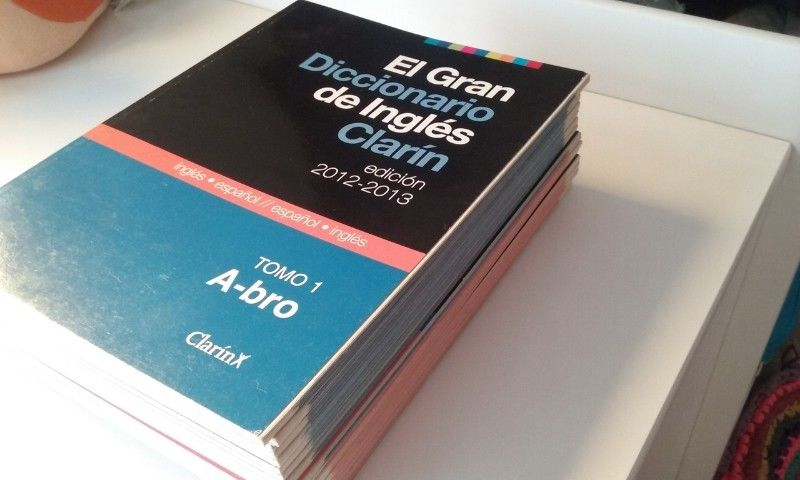 Lote completo el gran diccionario de ingles Clarin.