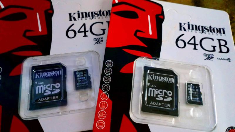 Tarjeta de memoria Kingston 64 GB clase 10