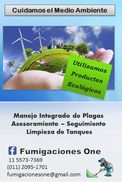 FUMIGACION / CONTROL DE PLAGAS / LIMPIEZA DE TANQUES