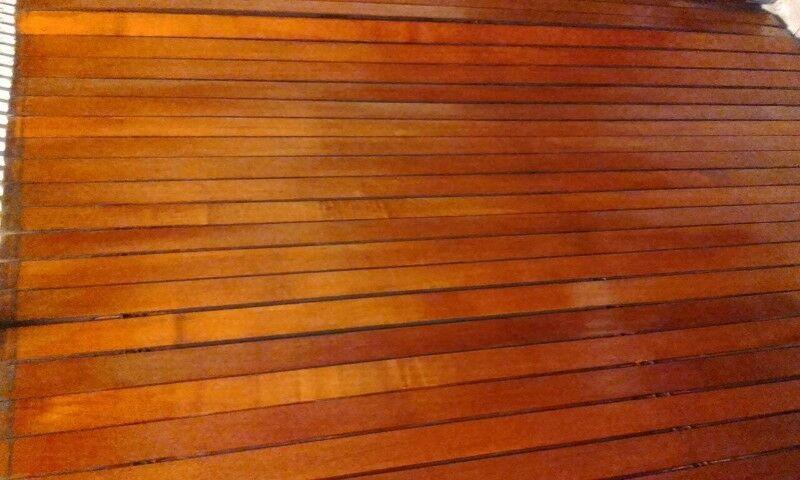 Persiana de madera de enrollar