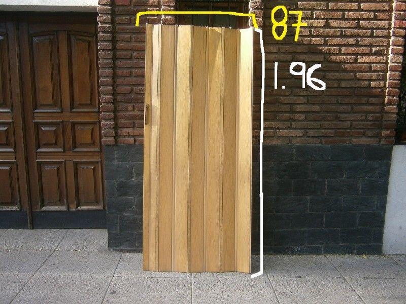 puerta plegadiza 1,96 alto x 87 ancho