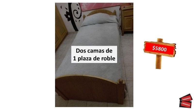 JUEGO DOS CAMAS DE 1 PLAZA