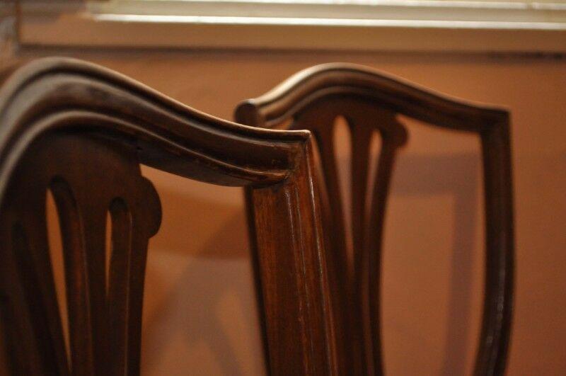 Juego de 6 sillas Estilo Inglés Palmeta + 1 sillón