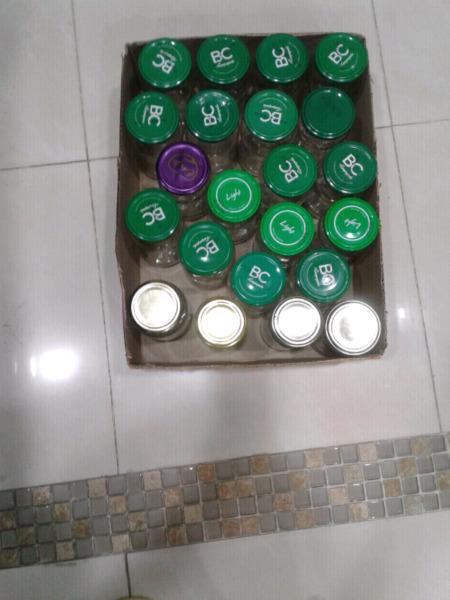 50 frascos de vidrio chicos