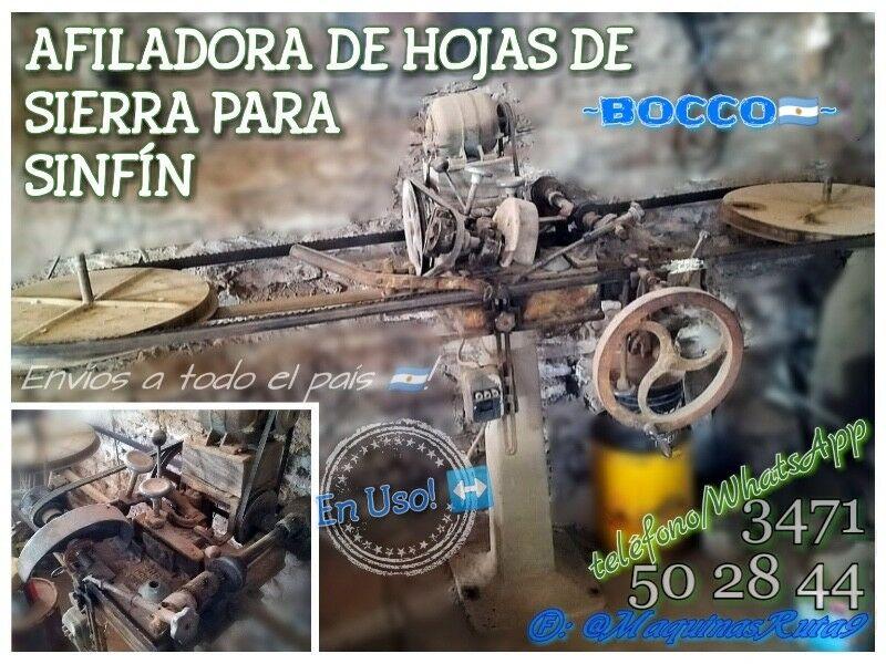 AFILADORA DE HOJAS DE SIERRA PARA SINFÍN (carpintería -