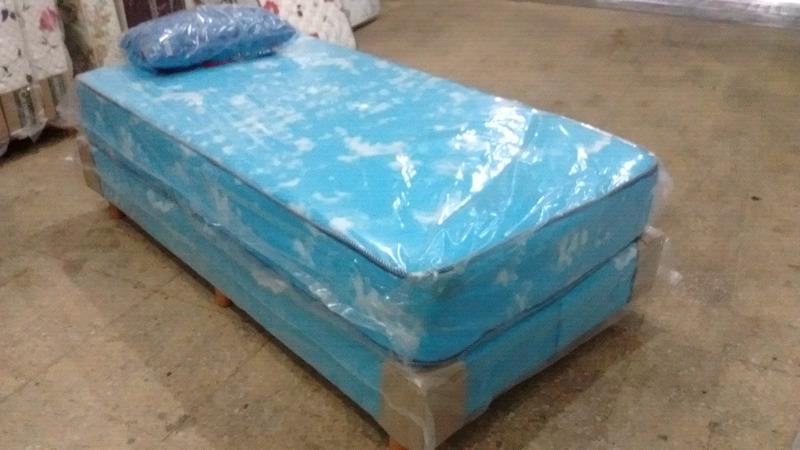 Colchon y sommier de 1 y 1/2 plaza + almohada y envío en